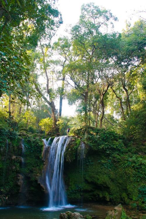 Waterfall at Jim Corbett National Park