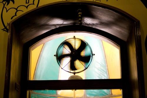 Umbrella window - Cafe Mondegar