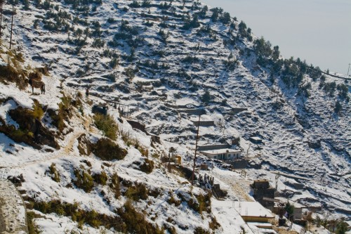 Dhanaulti - snow clad hill, Dhanaulti, hill, landscape, Nature, snow, travel, travel photography, Uttarakhand, wallpaper, Photographer Anurag Jain