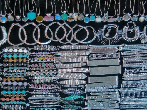 Ornaments for sale - Tibetan market, Calangute
