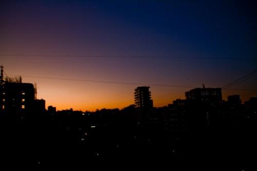Mumbai cityscrape Twilight
