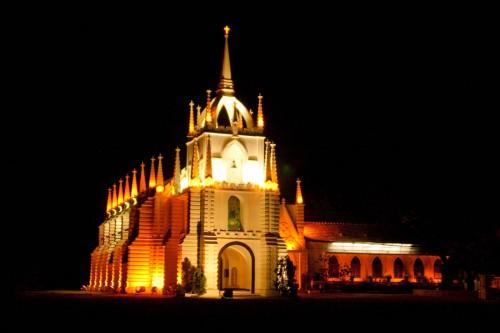 Mae De Deus Church at night - Saligaon