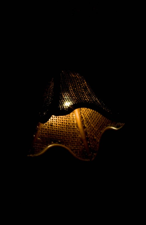 lamp shade in the dark