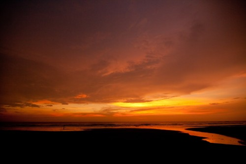 Sunset at Morjim beach - Goa