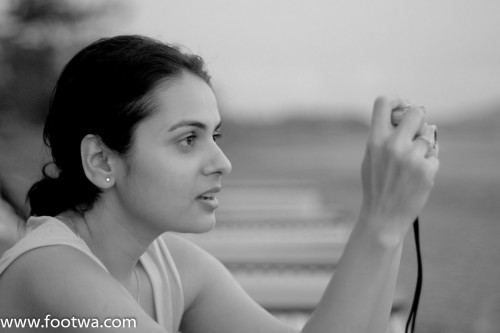 Capture the moment, monochrome, People, photography, Portrait, woman clicking snap, woman holding camera, Photographer Anurag Jain