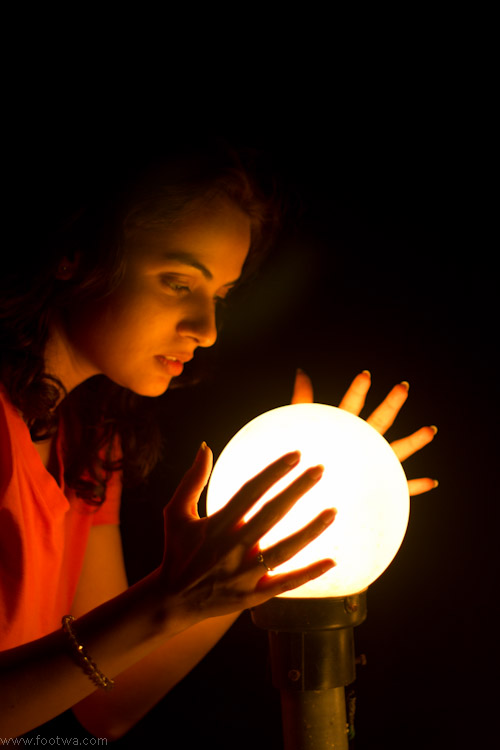Woman with a crystal ball