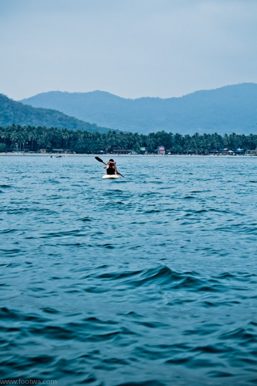 Man in a kayak in the sea, 55mm, Beach, colomb beach, Goa, Goan beach, ISO 200, Kayak, Man in a kayak in the sea, Nature, Palolem, palolem beach, People, sea, Top 10, Photographer Anurag Jain