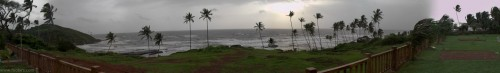 Vagator beach Goa 180 panorama