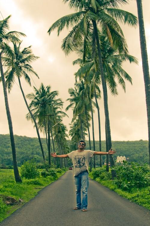 Road at Parra Goa