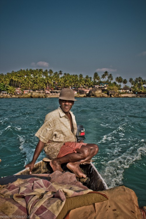 Fisherman in his Boat, Beach, boat, colomb beach, Fisherman, fisherman in a boat, Goa, Nature, Palolem, palolem beach, People, sea, Photographer Anurag Jain