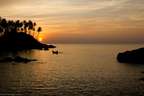 Sunset at Colomb beach, Beach, boat, colomb beach, Goa, landscape, Nature, sea, Silhouette, Sunset, Sunset at beach, travel, travel photography, Photographer Anurag Jain