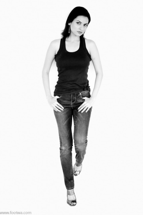 Zaver Shroff - Attitude, attitude girl, black and white, girl in jeans, Girl with attitude, how to click a portfolio with white background., jeans, Model, model photography, model portfolio, monochrome, People, Zaver Shroff, Photographer Anurag Jain