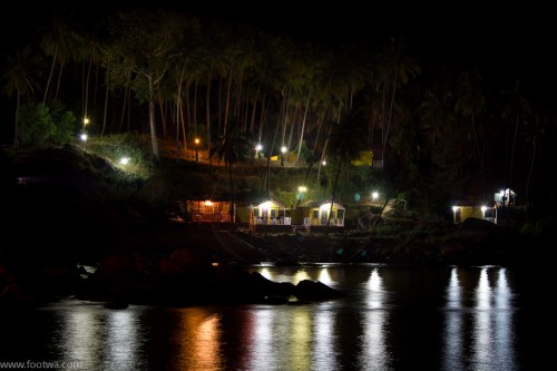Lighting at colomb beach at night, Beach, beach at night, colomb beach, Goa, lighting at beach, low light, magical beach, Nature, palolem beach, stilt cottages at beach, Waves, Photographer Anurag Jain