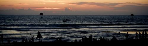 Calangute beach panoramic silhouette