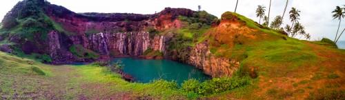 The blue lagoon 180 degree panorama