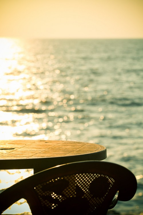 Sea view desk at Anjuna