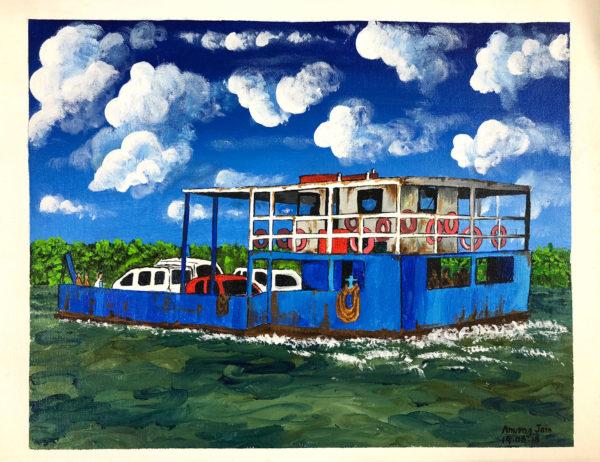 Goan Ferry Acrylic On Canvas
