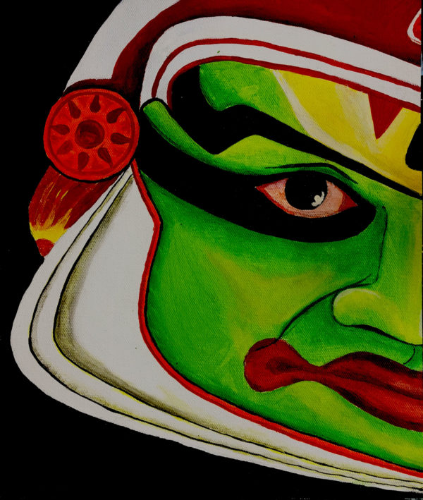Pacha Katti, Kathakali Acrylic On Canvas