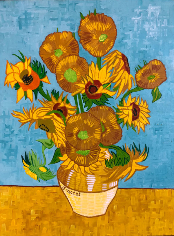 Vincent Van Gogh Sunflowers, acrylic on canvas